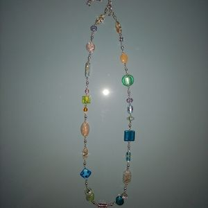 Lia sophia colorful glass bead necklace gift